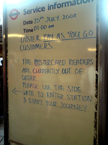 Oyster cards broken again by Martin Deutsch