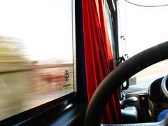 view from behind the driver (sanne1102) Tags: blur window steeringwheel driversseat