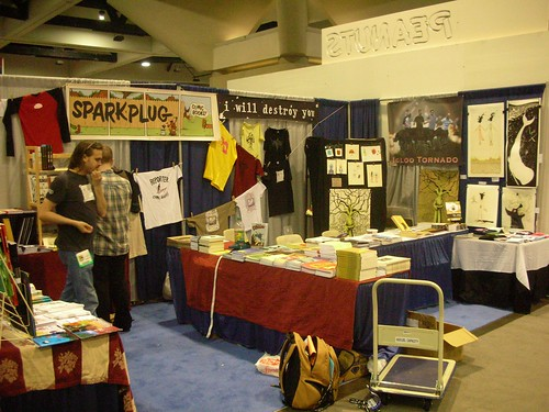 the Sparkplug Comic Books/I Will Destroy You booth