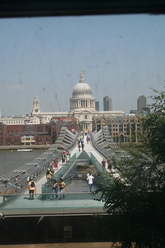 View of the Millenium Bridge...