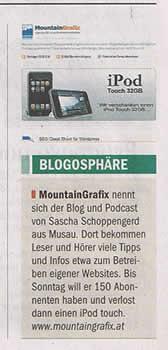 Tiroler Tageszeitung vom 01.08.2008