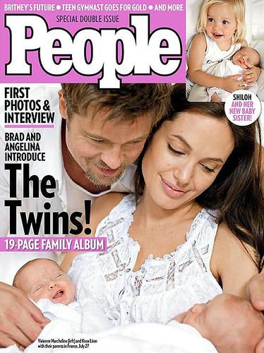 People mellizos de Brad Pitt y Angelina Jolie