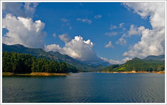 Munnar (kcbimal) Tags: trees lake water station clouds canon scenery dam hill kerala munnar bimal mattupetti kundala 400d