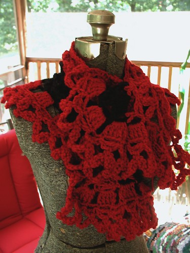 Red Victorian Style Capelet