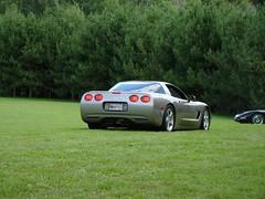 Small car show at Cambridge Narrows (redvette) Tags: corvette rivervalleyvettes redvette tomhiltz
