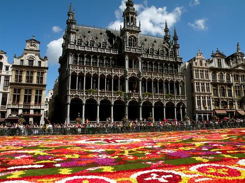 Tapis de fleurs et Hotel de Ville, Bruxelles