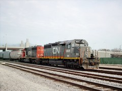Westbound Canadian National transfer train. Chicago Illinois. March 2007.