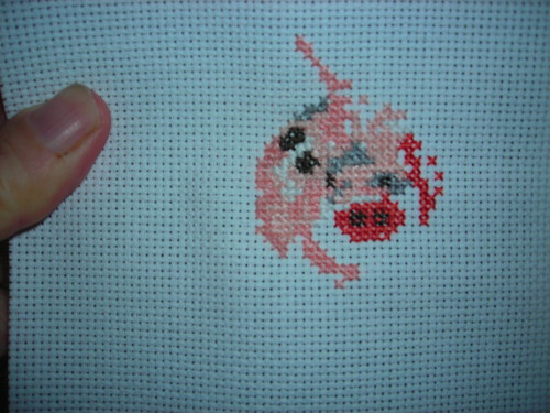 Experiment in counted cross-stitch