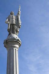 Cristóbal Colón, Plaza de Colón, San Juan, Puerto Rico (jogorman) Tags: plaza blue columbus sky cloud statue clouds square de puerto san juan puertorico christopher rico clear spanish americas cristobal colon colón 1492 cristóbal jamesogorman