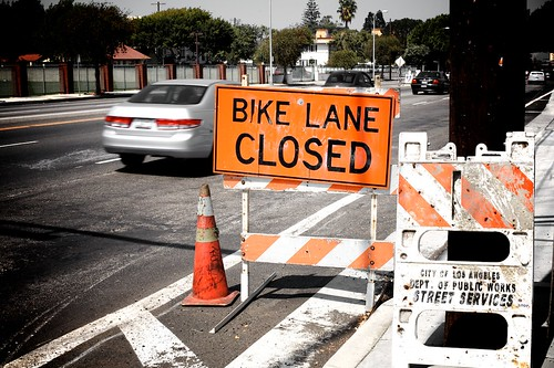 Bike Lane Closed, Sepulveda North
