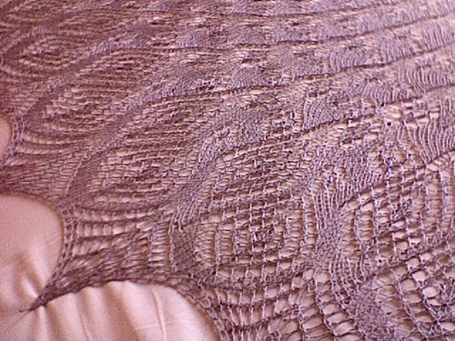 Queen Anne's Lace shawl - blocking
