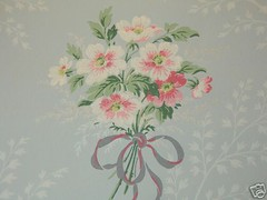 Blue Bouquet Vintage Wallpaper par such pretty things