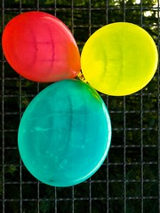 three balloons