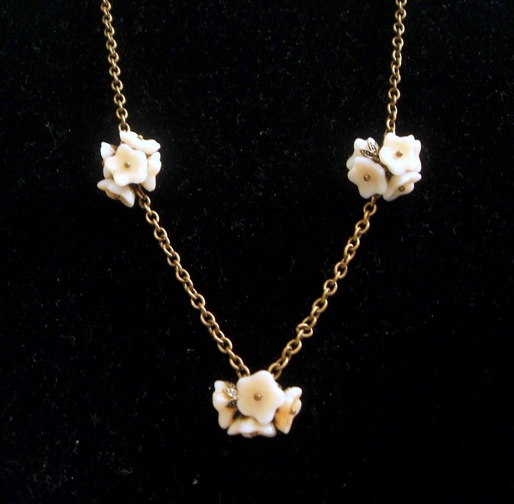Gardenia Cluster Bouquet Necklace
