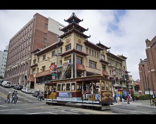 Sing Chong Building in Grant Avenue, San Francisco por RCAGUIAT / Rodel Caguiat.