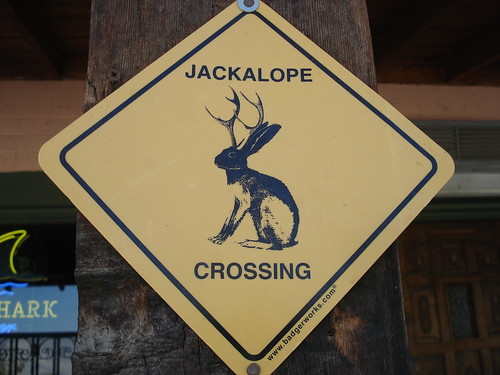 jackalope X-ing (crossing) road sign