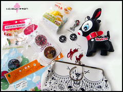 Five Fav Things - Angel (Hailey Kitten) Tags: tattoo angel skull pin deer jewellery purse kawaii rockabilly bento earrings artbox swapbot bentoaccessories petitbabie fivefavthings petitbabiemascot rockabillyjewellery