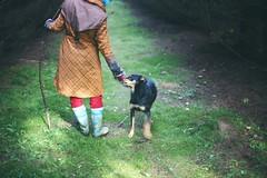 автопортрет 185й день (tomato_senya) Tags: trees light people dog selfportrait colour green me nature hands village russia dream bodylanguage 365ru