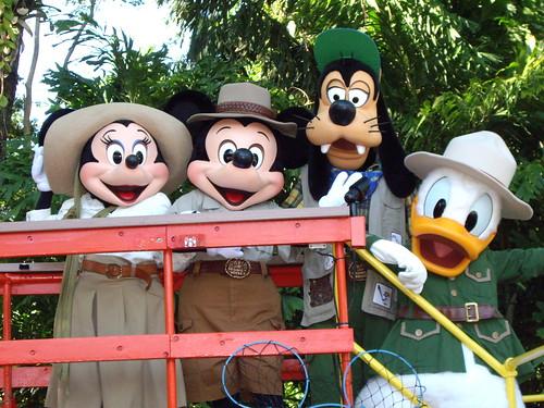 Minnie, Mickey, Goofy and Donald