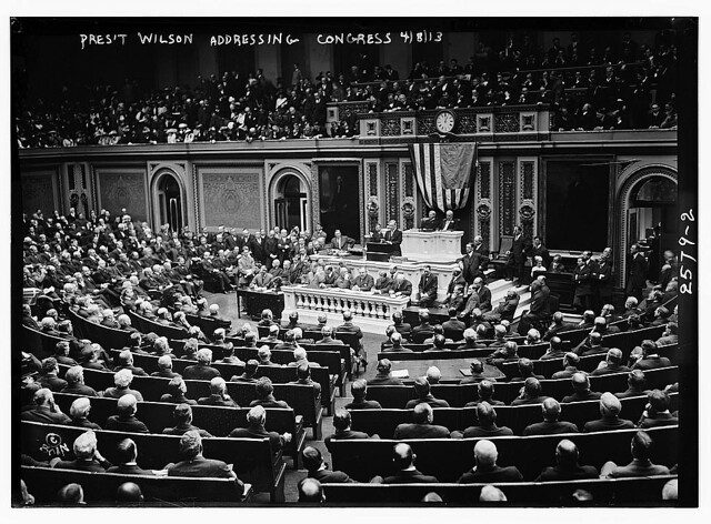 Pres. Wilson addressing Congress  (LOC)