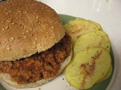 Sloppy Joes With Homemade Potato Chips