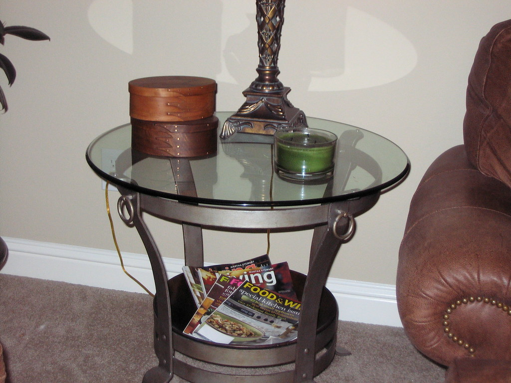 Ethan Allen Glass End Table