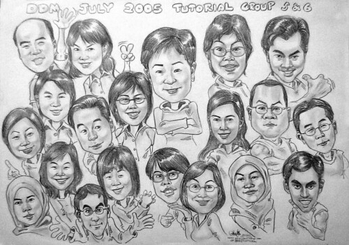 DDMTut Group caricature in pencils 23102005