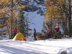 Hikers at Wing Lake