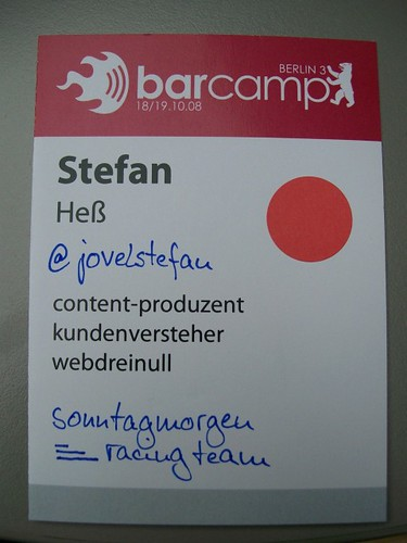 Barcamp Berlin 3 Badge