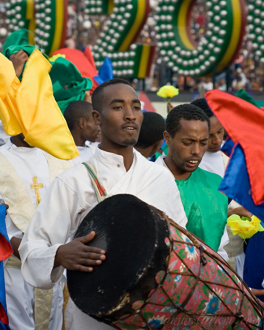 Drummer, Meskel, Addis Ababa, Ethiopia, 2008