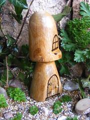 wooden toadstool fairy house (notdmoma) Tags: door wood sculpture art mushroom tooth mushrooms wooden doors hand handmade ooak craft hobby pixie made elf fairy fantasy handcrafted toadstool fairies faerie elves fae fantacy crafted
