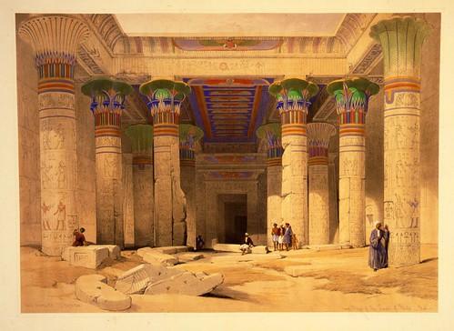 011- Gran Portico del templo de Philae en Nubia- David Roberts- 1846-1849
