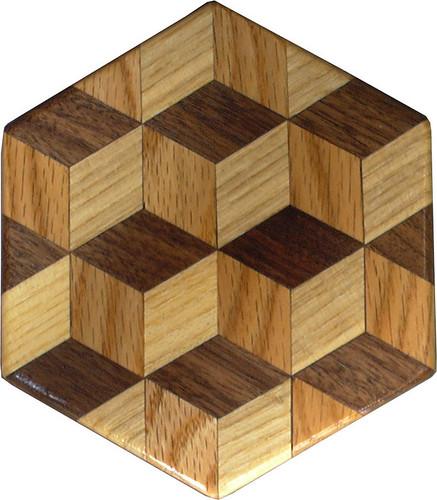 Tumbling Block Trivet 5