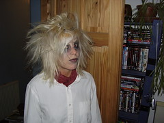 Malin's hair is nearly as evil as she is... (the_dan) Tags: halloween matt dead makeup corpse zombies whiteface blackeyes malin