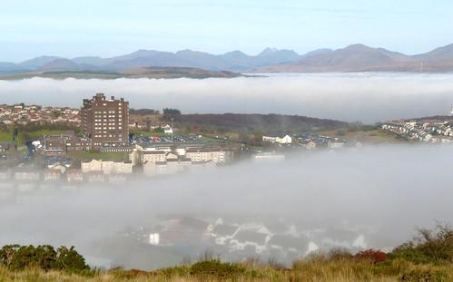 Gourock in mist