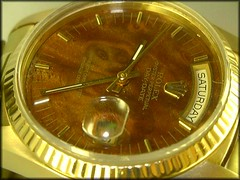 Rolex Day-Date 1803/8 - Dial macro (char1iej) Tags: macro gold watches dial timepiece crown wristwatch chronometer rolex mahogany 18k bezel fluted oysterperpetual daydate swissmade twinlock acryliccrystal rolexwatch 18038 rolexpresident charliej wooddial