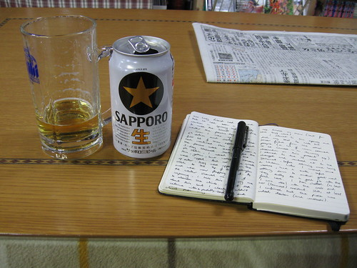 Diary and beer
