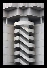 Screwy (G-daddyArt) Tags: atlanta urban blackandwhite stilllife abstract stairs square spiral concrete cityscape availablelight garage parking stairway rectangle centennialpark
