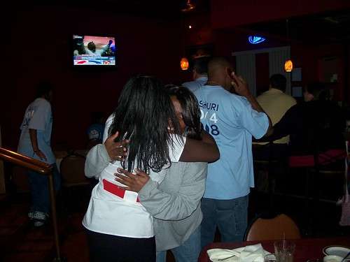 More hugging for an Obama win.