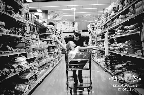 amy and todd's grocery store engagement session college station, tx