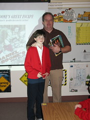 My nephew Scott introduces me to his class.