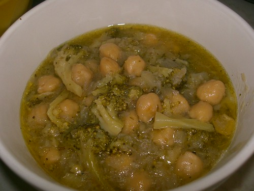 chickpea and broccoli stew revithada