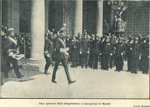 Alfonso XIII en el Alcázar de Toledo