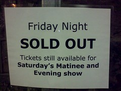 Friday Night SOLD OUT