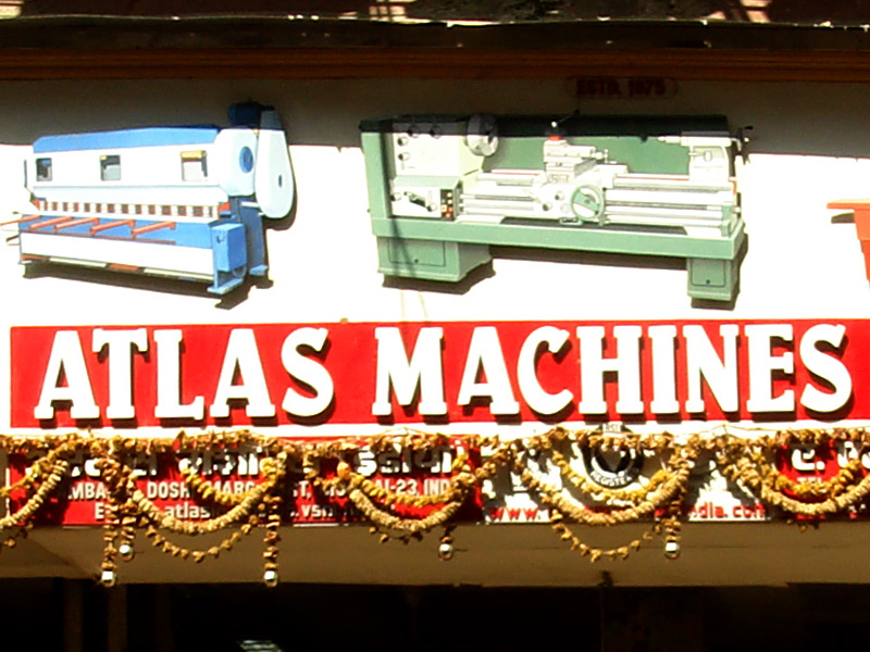 Machine Tools Hand Painted Signs