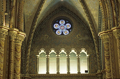 Church window (kkitsos) Tags: park city castle church window monument museum architecture europe hungary catholic arch interior niche traditional faith religion gothic budapest architectural baroque brilliant buda fanlight vitro constructional