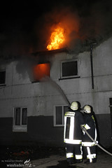 Feuer Abrissgebäude Schierstein 29.11.08