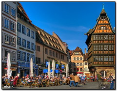 Kammerzell House, Strasbourg (Mike G. K.) Tags: morning people france ar
