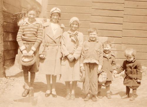 Louis Julius Freudenberg II (1922-1986); Eloise Margerite Sanford (1922- ); Virginia Bennett; Eugene Freudenberg II (1924-1945); Arthur Oscar Freudenberg II (1929- ); and Ralph Herman Freudenberg I (1