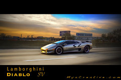 Lamborghini Diablo Sunrise (jeremycliff) Tags: thanksgiving morning cruise chicago illinois fast exotic batman diablo expensive corvette lamborghini rare supercar sv vette jeremycliff diablosv myacreativestudios myacreativecom exoticdrivencom batmanvette